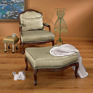 Rue Saint Honore Bergere Chair & Ottoman