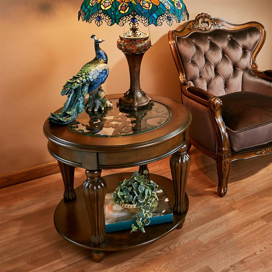 CASA GRANDE GLASS TOPPED TABLE