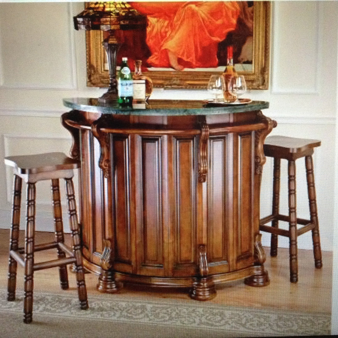 The Lion & Rose Marble Topped English Pub Home Bar(Available7/13/18) - barsforhomes.com