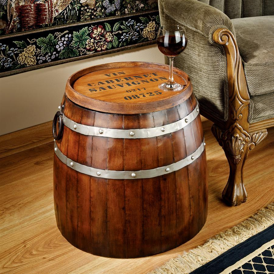 French Bar Barrel Side Table - barsforhomes.com