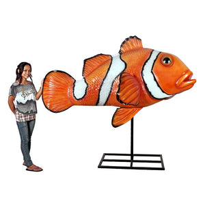 Oversized Clownfish Statue With Stand
