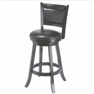 R Backed Swivel Barstool Black - barsforhomes.com