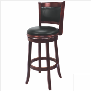 R Backed Swivel Barstool English Tudor - barsforhomes.com