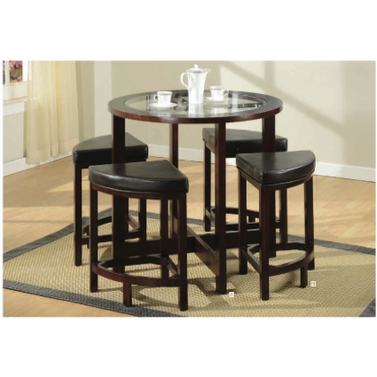 Patia ACME Counter High Table and four matching barstools(5-Piece) - barsforhomes.com