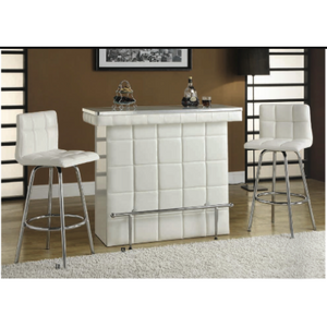 Ronni ACME 3-Piece Glass Top Bar Set - barsforhomes.com