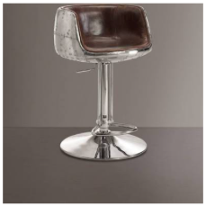Acme Brancaster Vintage Brown Swivel Adjustable Barstool - barsforhomes.com