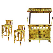 RAM GAME ROOM 60 Bamboo Tiki Bar 5-Pc Set