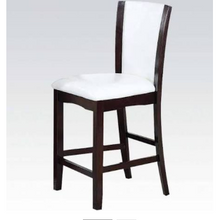 ACME Malik Counter Height Chair 2-Pc Set White PU & Espresso