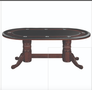 Ram 84 Texas Hold'em Game Table-Cappuccino