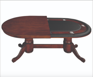 Ram 84 Texas Hold'em Game Table With Dining Top-Cappuccino