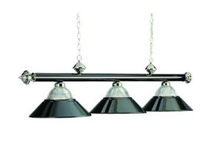 "3 LT-54"" BILLIARD LIGHT-BLACK CHROME & CHROME"