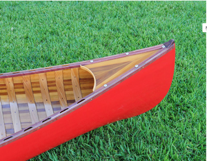 Red Canoe 10ft With Ribs Curved Bow