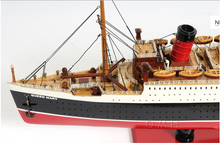 Queen Mary Large Model Ship With Display Case