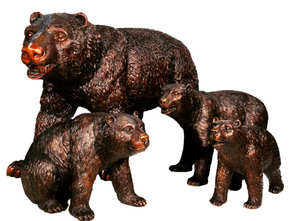 BRONZE BEAR FAMILY SCULPTURE SET
