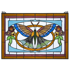 Butterfly Ballet Stained Glass Window