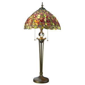 Croton Leaves Stained Glass Table Lamp