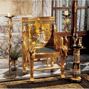 King Tutankhamen's  Egyptian Throne Chair Re-Creation - barsforhomes.com