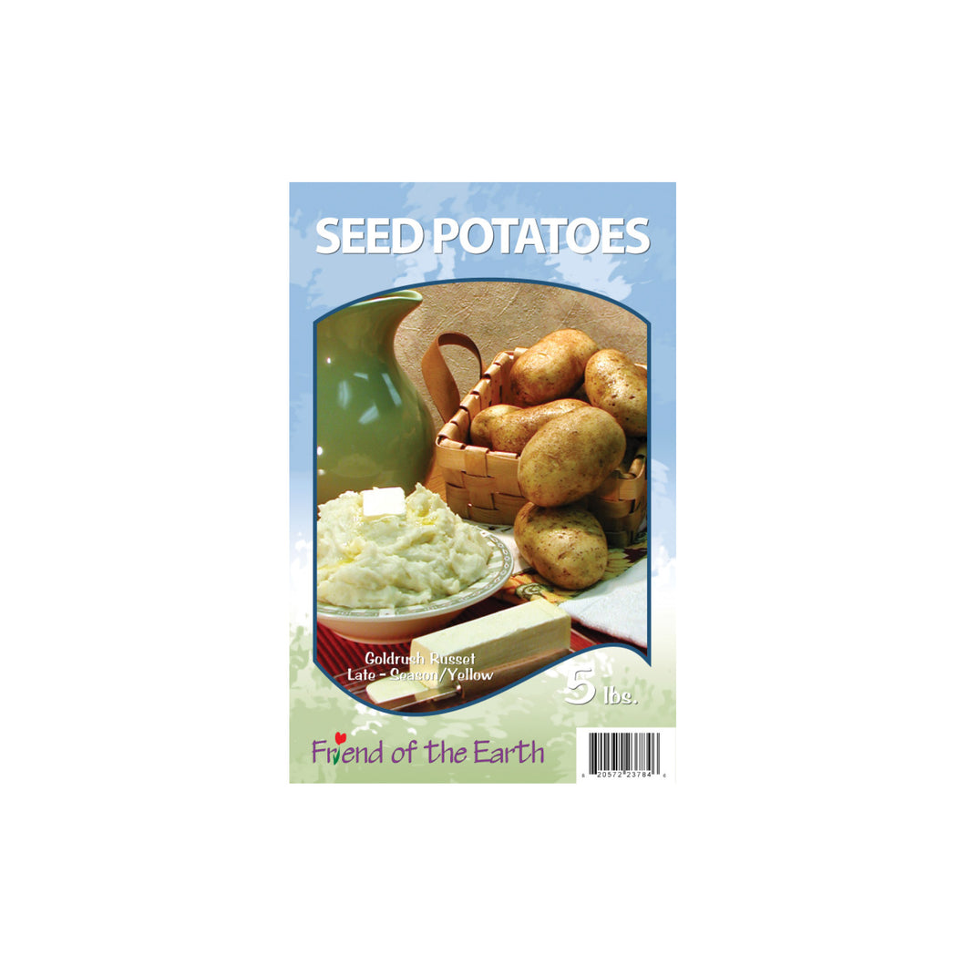 Yellow Seed Potatoes - Goldrush Russet Unit #15406