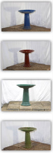 Mixed Ceramic Birdbaths Unit #15916