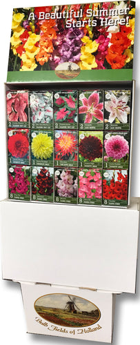 Bulb Fields of Holland Spring Flower Bulb Display in Color Retail Impulse Boxes Unit #15111