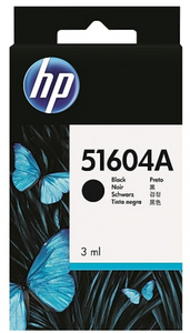 HP Black Genuine OEM Original Ink Cartridge (51604A) for Inkjet , Thinkjet , Quietjet , Scanjet