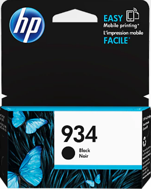 HP 934 Genuine OEM Original Black Ink Cartridge (C2P19AN)
