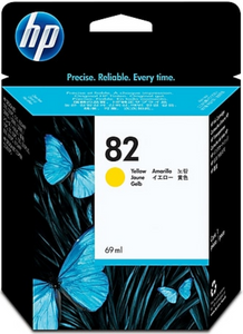 HP 82 Yellow Genuine OEM Original Ink Cartridge (C4913A)