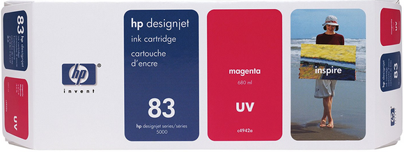 HP 83 Genuine OEM Original Magenta ink Cartridge - 680 ML (C4942A)