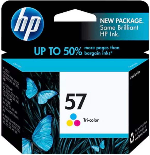HP 57 (C6657AN) Genuine OEM Original Tri-color Ink Cartridge
