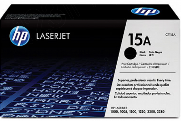 Genuine OEM HP Laserjet 15A (C7115A) Toner / Genuine OEM HP Laserjet 1200 Toner Cartridge