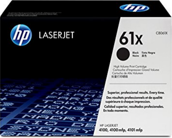 Genuine OEM HP Laserjet 61X (C8061X) High Yield Toner / Genuine OEM HP Laserjet 4100 Toner Cartridge