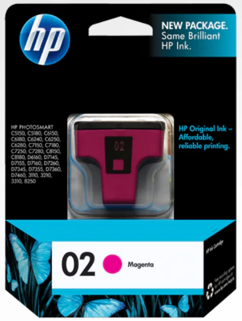 HP 2 (C8772WN) Genuine OEM Original Magenta Original Ink Cartridge