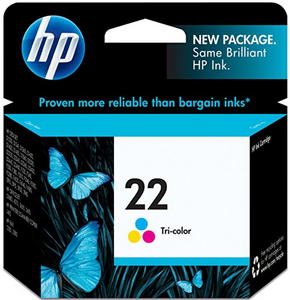 HP 22 (C9352AN) Genuine OEM Original Tri-color Original Ink Cartridge