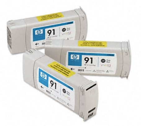 HP 91 3-ink Genuine OEM Original Photo Black Cartridge Multipack (775 ml each),work with HP Designjet Z6100 (C9481A)