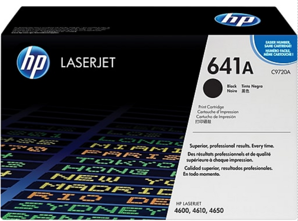 Genuine OEM HP Laserjet 641A (C9720A) Black Toner / Genuine OEM HP Color Laserjet 4650 Toner Cartridge