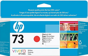 HP 73 130-ml Genuine OEM Original Chromatic Red Ink Cartridge - HP Designjet Z3200 Photo Printer series (CD951A)