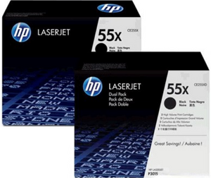 Genuine OEM HP Laserjet 55X (CE255XD) 2-pack High Yield Toner / Genuine OEM HP Laserjet P3010 Toner Cartridge