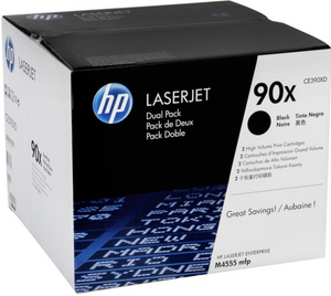 Genuine OEM HP Laserjet 90X (CE390XD) 2-pack High Yield Toner / Genuine OEM HP Laserjet M4555 Toner Cartridge