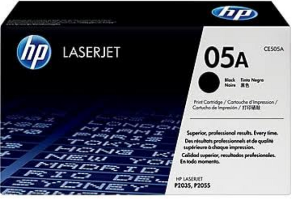 Genuine OEM HP Laserjet 05A (CE505A) Black Toner / Genuine OEM HP Laserjet P2055 Toner Cartridge