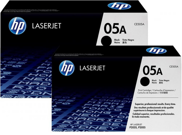Genuine OEM HP Laserjet 05A (CE505D) 2-pack Toner / Genuine OEM HP Laserjet 2055 Toner Cartridge