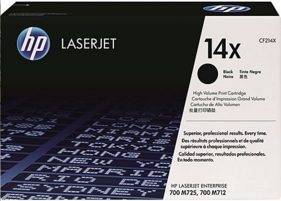 Genuine OEM HP Laserjet 14X (CF214X) High Yield Toner / Genuine OEM HP Laserjet M725 Toner Cartridge
