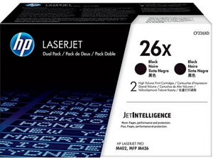 Genuine OEM HP Laserjet 26X (CF226XD) 2-pack High Yield Black Toner / Genuine OEM HP Laserjet M426 Toner Cartridge