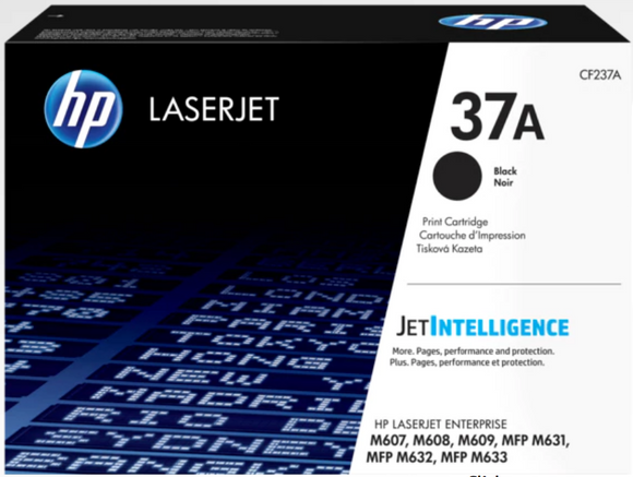 Genuine OEM HP Laserjet 37A (CF237A) Toner / Genuine OEM HP Laserjet M608 Toner Cartridge