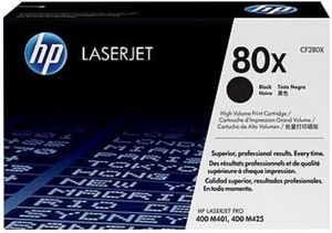 Genuine OEM HP Laserjet 80X (CF280X) High Yield Black Toner / Genuine OEM Color LaserJet M401 Toner Cartridge