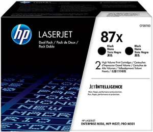 Genuine OEM HP Laserjet 87X (CF287XD) 2-pack High Yield Toner / Genuine OEM HP Laserjet M527 Toner Cartridge