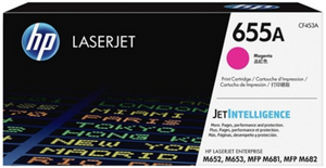 Genuine OEM HP Laserjet 655A (CF453A) Magenta Toner / Genuine OEM HP Color Laserjet M682 Toner Cartridge