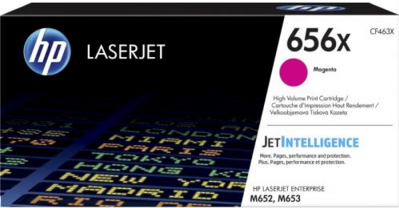 Genuine OEM HP Laserjet 656X (CF463X) High Yield Magenta Toner / Genuine OEM HP Color Laserjet M653 Toner Cartridge