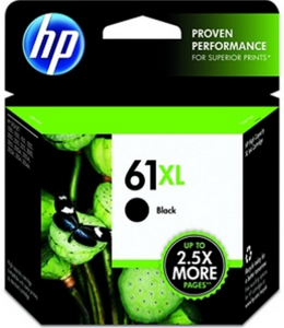 HP 61XL (CH563WN) Genuine OEM Original High Yield Black Ink Cartridge