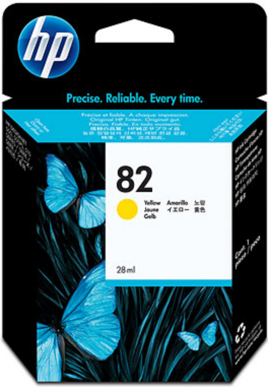 HP 82 Genuine OEM Original Yellow Ink Cartridge (CH568A)