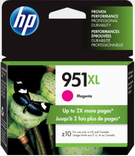 HP 951XL (CN047AN) Genuine OEM Original High Yield Magenta Ink Cartridge